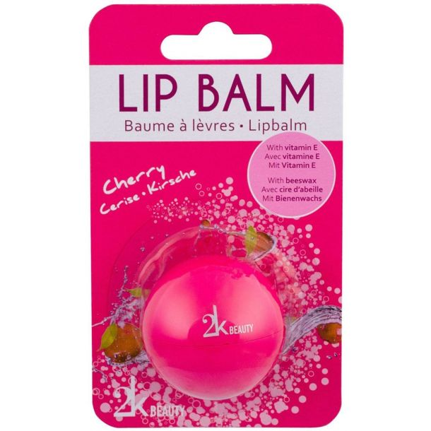 2k Beauty Lip Balm Cherry 5gr With Vitamin E (For All Ages)