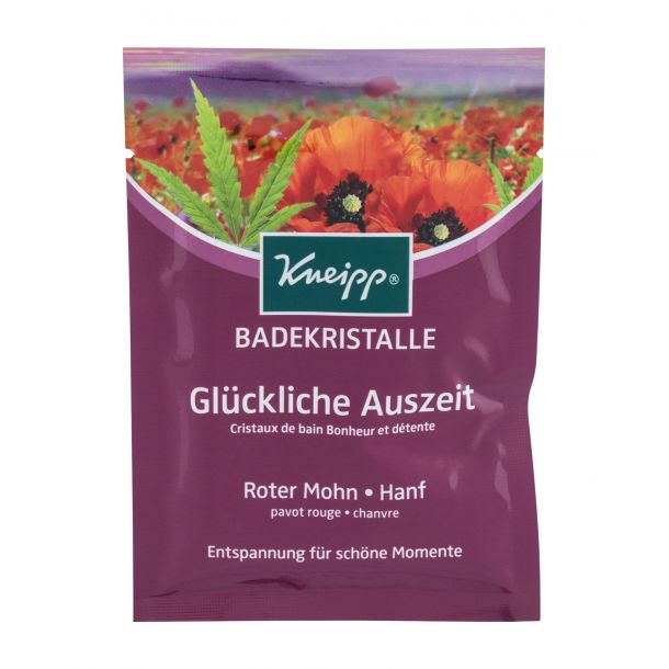 Kneipp Mineral Bath Salt Pure Bliss Red Poppy & Hemp Bath Salt 60gr