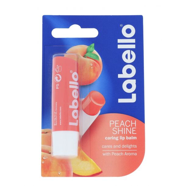 Labello Peach Shine Lip Balm 5,5ml (For All Ages)
