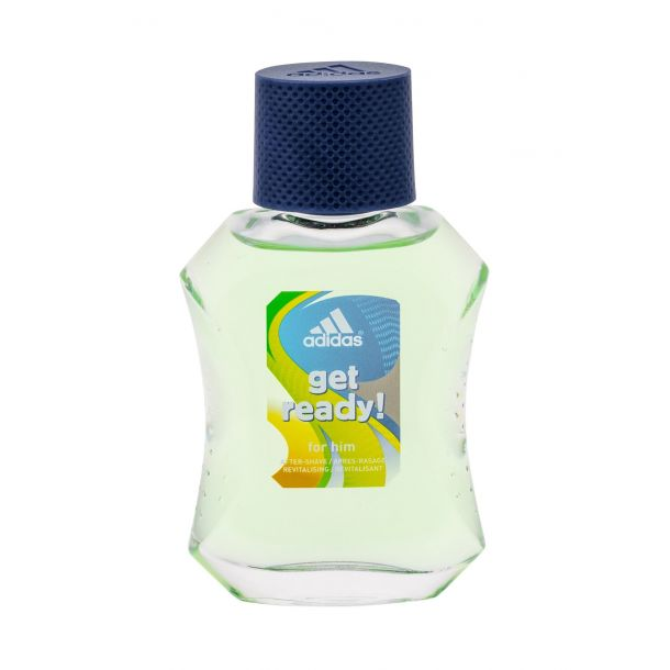 Adidas Get Ready! For Him Aftershave Water 50ml Damaged Box