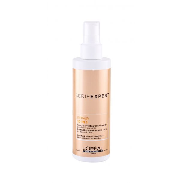 L´oréal Professionnel Série Expert Absolut Repair Gold Quinoa + Protein 10 in 1 Leave-in Hair Care 190ml (Brittle Hair - Heat Protection - Split Ends - All Hair Types)