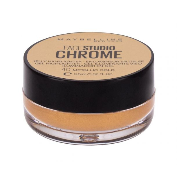 Maybelline FaceStudio Chrome Brightener 40 Metallic Gold 9,5ml