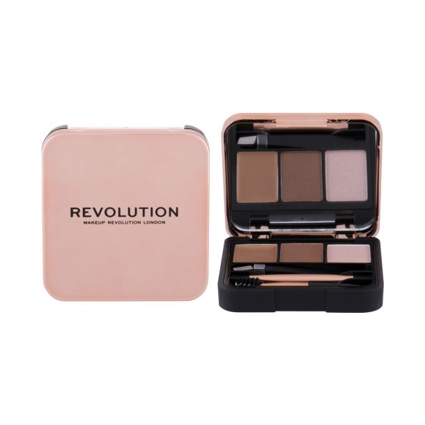 Makeup Revolution London Brow Sculpt Kit Set and Pallette For Eyebrows Brown 2,2gr