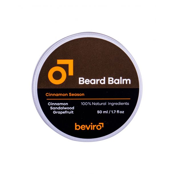 Be-viro Men´s Only Beard Balm Beard Wax Grapefruit, Cinnamon, Sandal Wood 50ml