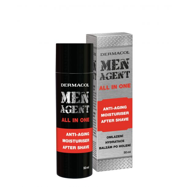 Dermacol Men Agent Anti-Aging Moisturiser After Shave All In One Aftershave Balm 50ml