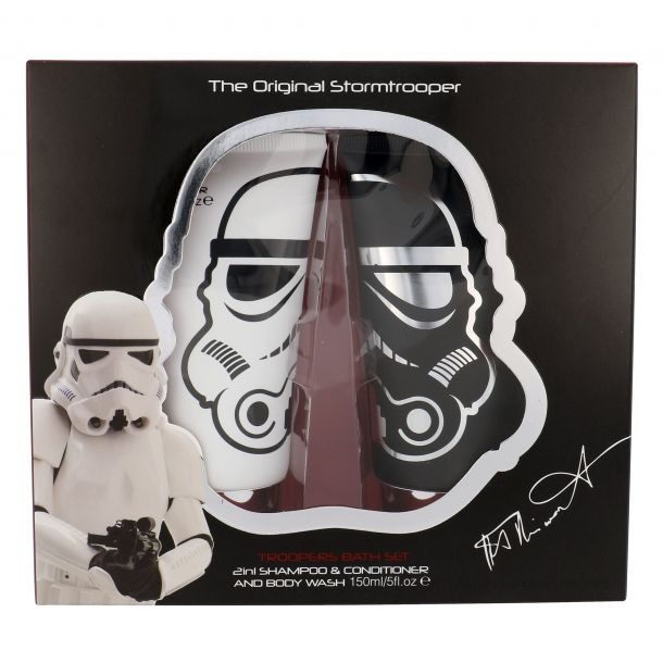 Star Wars Stormtrooper Shampoo 150ml Combo: Shampoo 2 In 1 150 Ml + Shower Gel 150 Ml Damaged Box (All Hair Types)