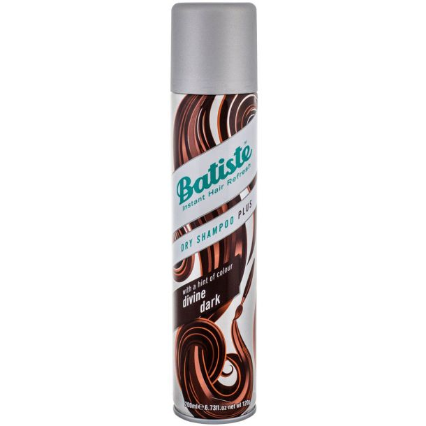 Batiste Divine Dark Dry Shampoo Plus 200ml (All Hair Types)