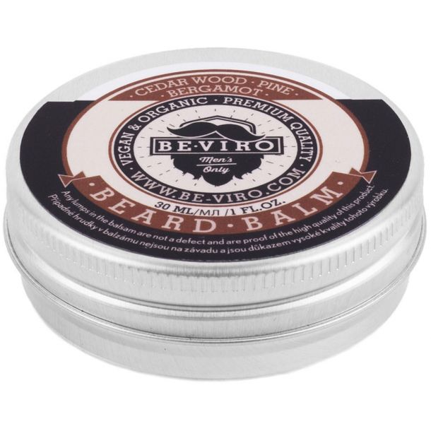Be-viro Men´s Only Beard Balm Beard Wax Cedar Wood, Bergamot, Pine 30ml