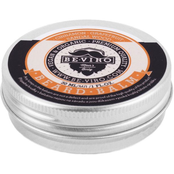 Be-viro Men´s Only Beard Balm Beard Wax Grapefruit, Cinnamon, Sandal Wood 30ml