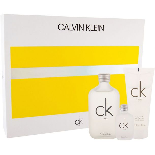 Calvin Klein CK One Eau de Toilette 100ml Combo: Edt 100 Ml + Edt 15 Ml + Shower Gel 100 Ml