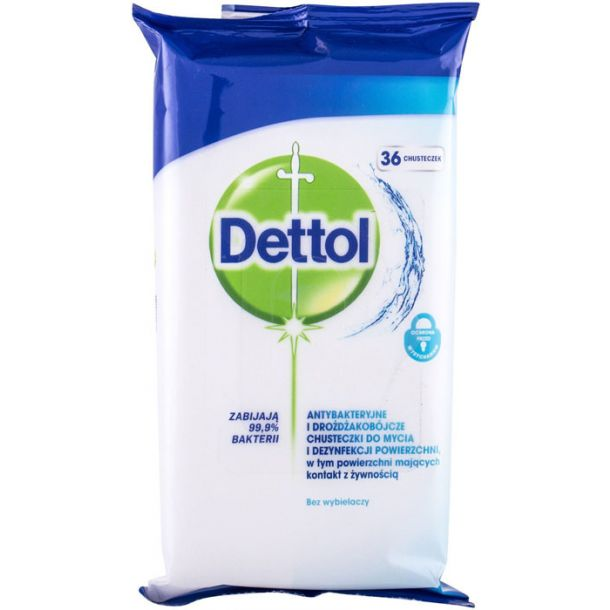 Dettol Antibacterial Cleansing Surface Wipes Antibacterial Product 36pc