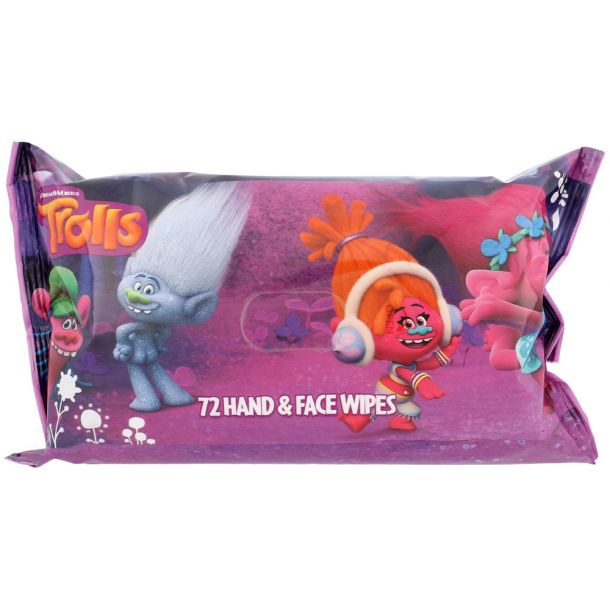 Dreamworks Trolls Cleansing Wipes 72pc