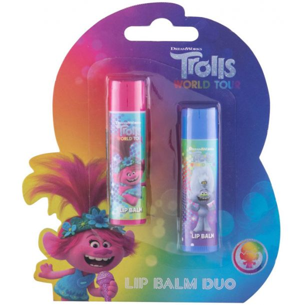 Dreamworks Trolls Duo Kit Lip Balm 4,2gr Combo: Lip Balm 4,2 G Cherry + Lip Balm 4,2 G Lemon (For All Ages)