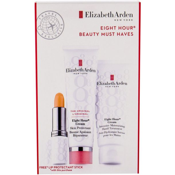Elizabeth Arden Eight Hour Cream Skin Protectant Body Balm 50ml Combo: Protective Care 50 Ml + Moisturizing Hand Care 75 Ml + Moisturizing Lip Care SPF15 3,7 G