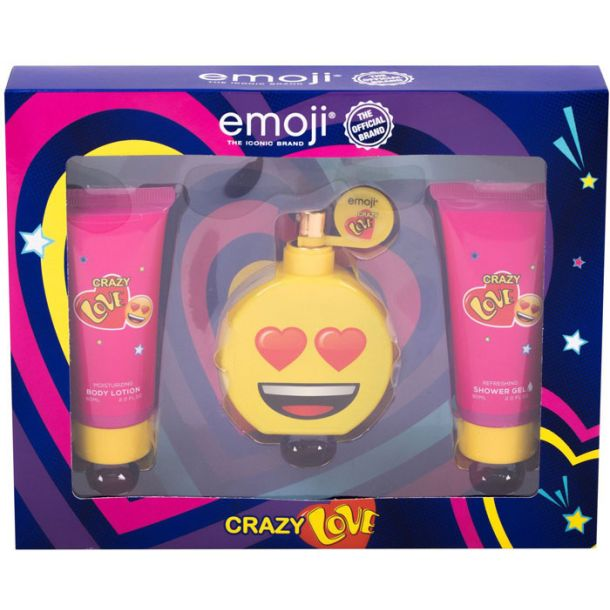 Emoji Crazy Love Eau de Parfum 50ml Combo: Edp 50 Ml + Shower Gel 60 Ml + Body Lotion 60 Ml