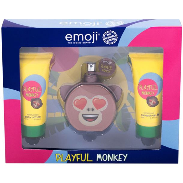 Emoji Playful Monkey Eau de Parfum 50ml Combo: Edp 50 Ml + Shower Gel 60 Ml + Body Lotion 60 Ml