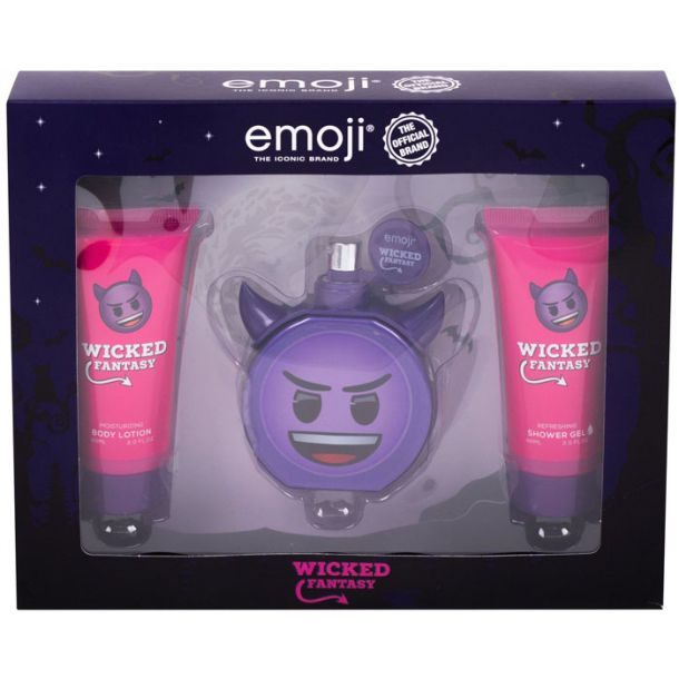 Emoji Wicked Fantasy Eau de Parfum 50ml Combo: Edp 50 Ml + Shower Gel 60 Ml + Body Lotion 60 Ml