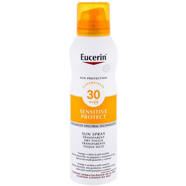 Eucerin Sun Sensitive Protect Sun Spray Dry Touch SPF30 Sun Body Lotion 200ml (Waterproof)