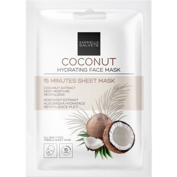 Gabriella Salvete 15 Minutes Sheet Mask Coconut Face Mask 1pc (For All Ages)