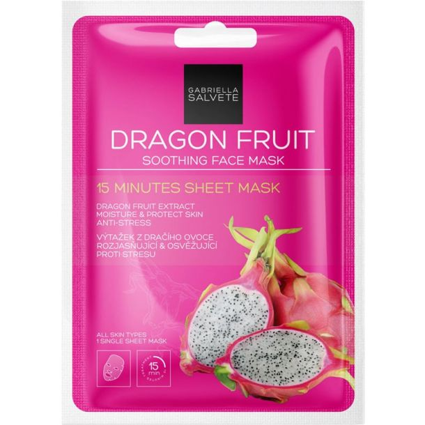 Gabriella Salvete 15 Minutes Sheet Mask Dragon Fruit Face Mask 1pc (For All Ages)
