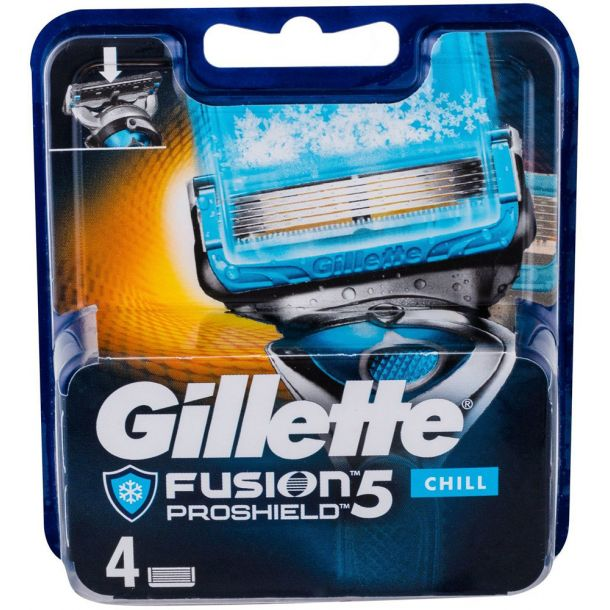Gillette Fusion Proshield Chill Replacement blade 4pc
