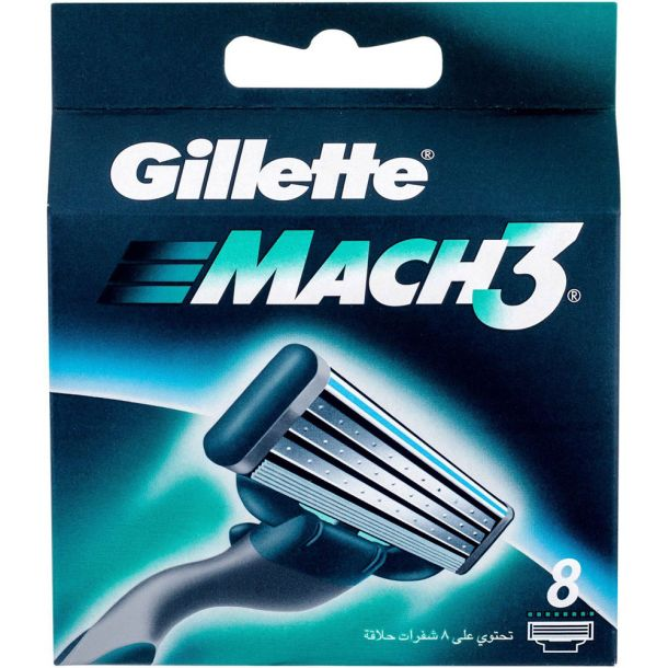 Gillette Mach3 Replacement blade 8pc