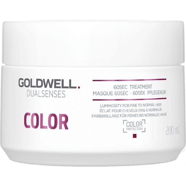 Goldwell Dualsenses Color 60 Sec Treatment Hair Mask 200ml (Colored Hair - Fine Hair - Highlighted Hair - Normal Hair)