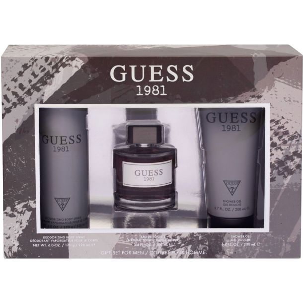 Guess Guess 1981 Eau de Toilette 100ml Combo: Edt 100 Ml + Shower Gel 200 Ml + Deodorant 226 Ml