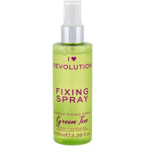 Makeup Revolution London I Heart Revolution Fixing Spray Green Tea Make - Up Fixator 100ml