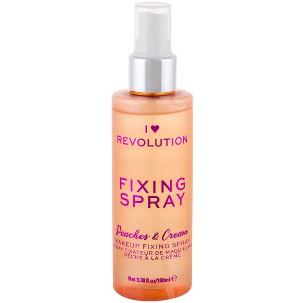 Makeup Revolution London I Heart Revolution Fixing Spray Peaches & Cream Make - Up Fixator 100ml