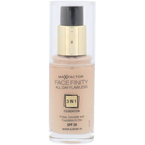 Max Factor Facefinity 3 in 1 SPF20 Makeup 45 Warm Almond 30ml