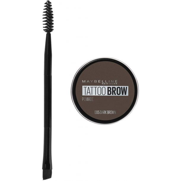 Maybelline Brow Tattoo Lasting Color Pomade Eyebrow Gel and Eyebrow Pomade 05 Dark Brown 4gr