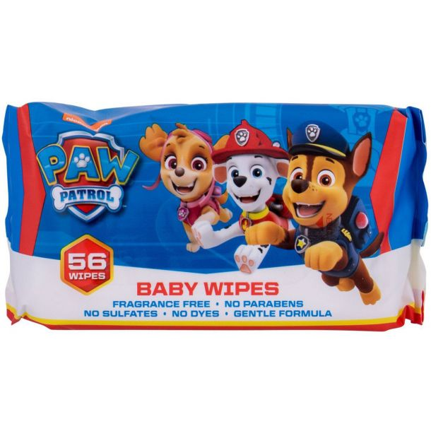 Nickelodeon Paw Patrol Baby Wipes Cleansing Wipes 56pc
