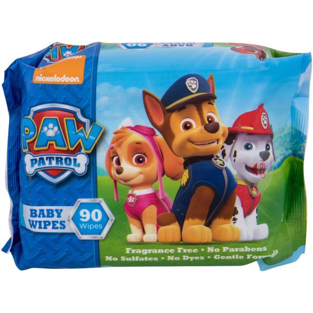 Nickelodeon Paw Patrol Baby Wipes Cleansing Wipes 90pc