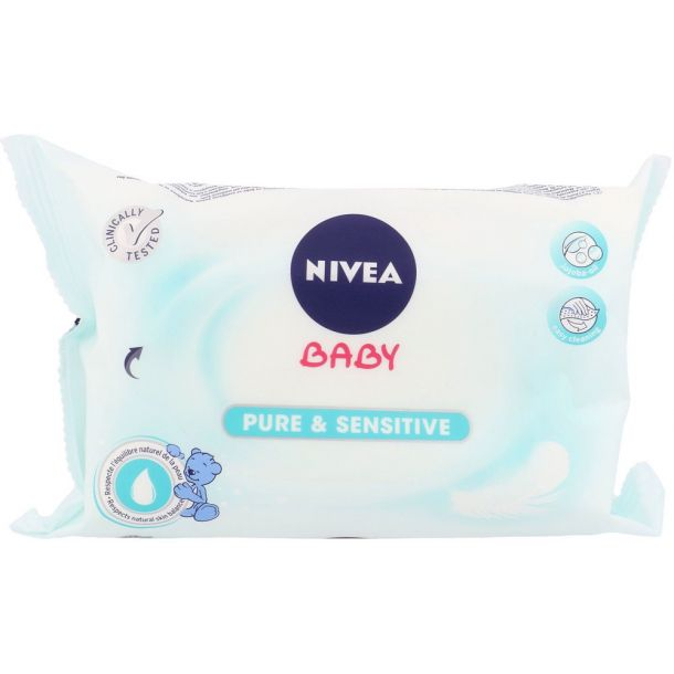 Nivea Baby Pure & Sensitive Cleansing Wipes 63pc