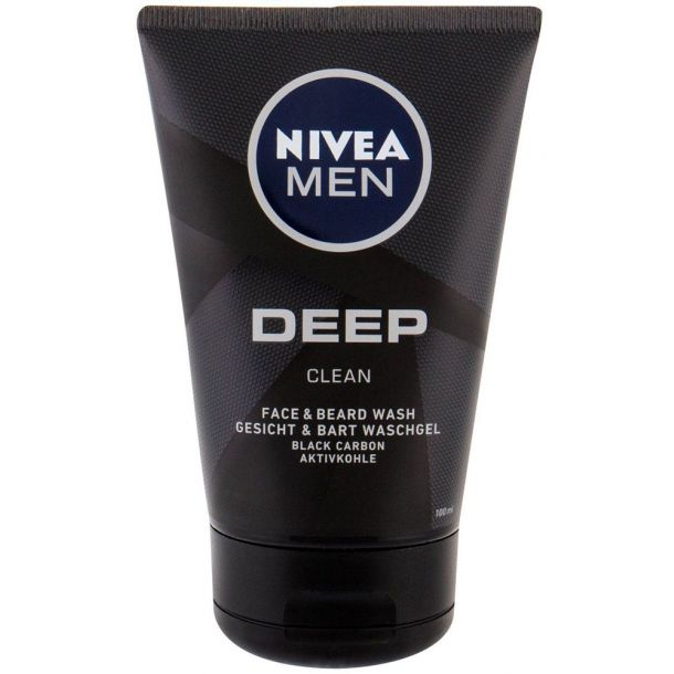 Nivea Men Deep Clean Face & Beard Wash 100ml