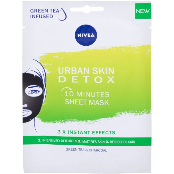 Nivea Urban Skin Detox 10 Minutes Sheet Mask Face Mask 1pc (For All Ages)