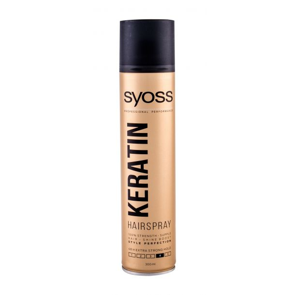 Syoss Professional Performance Keratin Hair Spray 300ml (Strong Fixation)