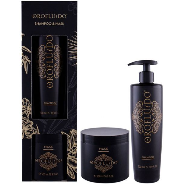 Orofluido Shampoo Beauty Kit Shampoo 500ml Combo: Shampoo 500 Ml + Hair Mask 500 Ml (All Hair Types)