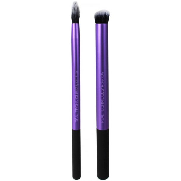 Real Techniques Brushes Eyes Perfect Crease Brush 1pc Combo: Brush Crease Prep 1 Pc + Brush Defining Crease 1 Pc