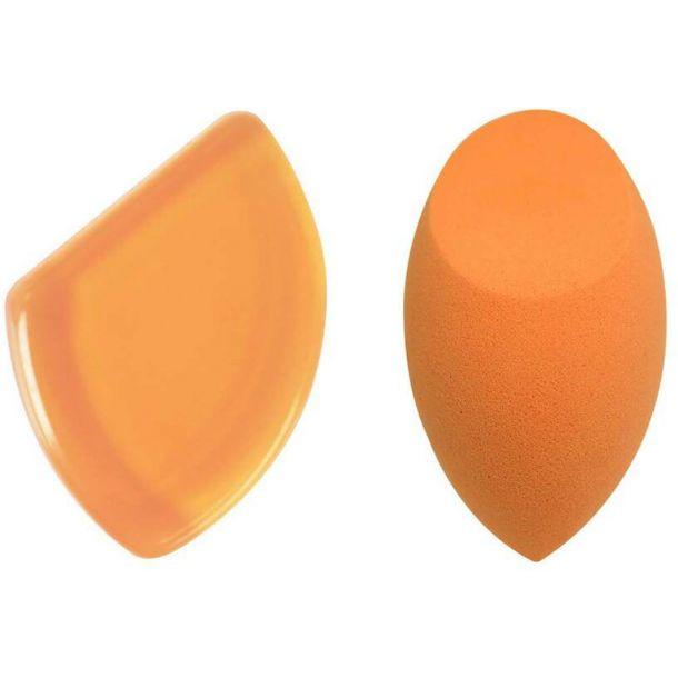 Real Techniques Sponges Expert Blending Duo Applicator 1pc Combo: Make-Up Sponge 1 Pc + Gum Make-Up Aplicator 1 Pc
