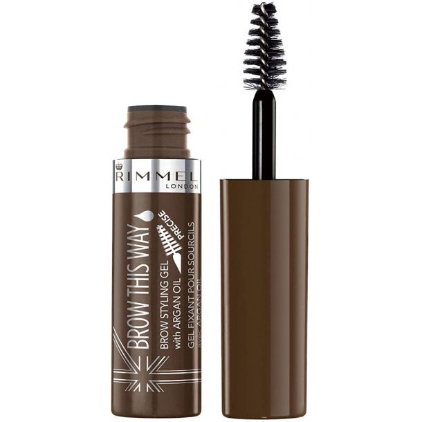 Rimmel London Brow This Way Brow Styling Gel Eyebrow Mascara 002 Medium Brown 5ml