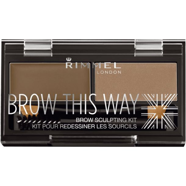 Rimmel London Brow This Way Set and Pallette For Eyebrows 002 Medium Brown 2,4gr