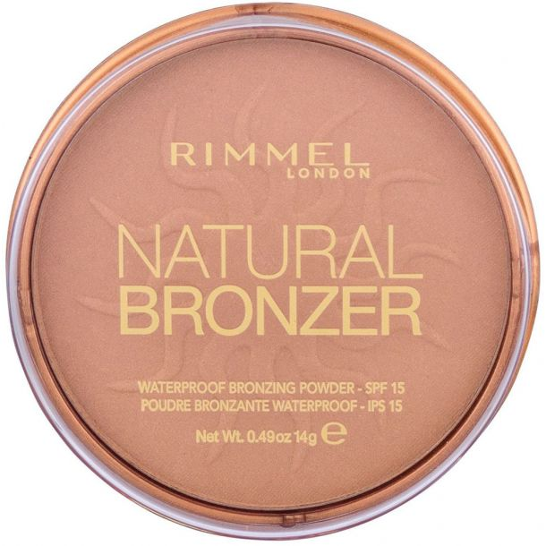Rimmel London Natural Bronzer SPF15 Bronzer 021 Sun Light 14gr