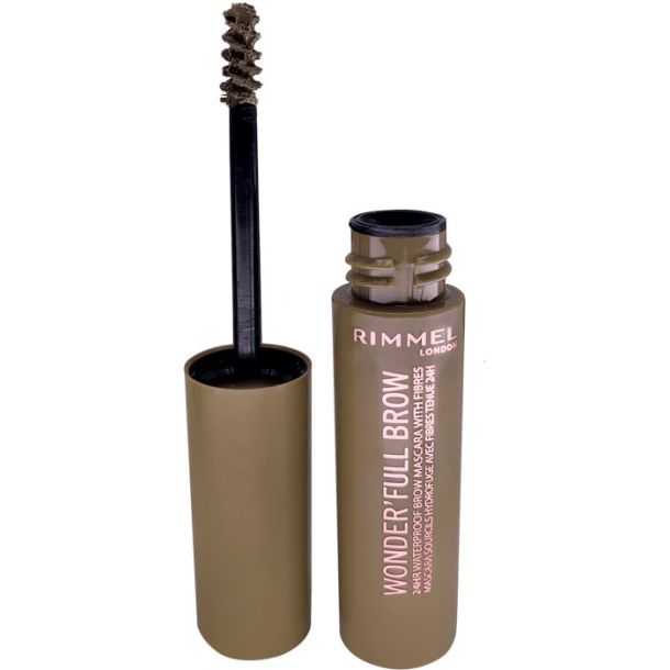 Rimmel London Wonder Full Brow Eyebrow Mascara 001 Light 4,5ml (Waterproof)