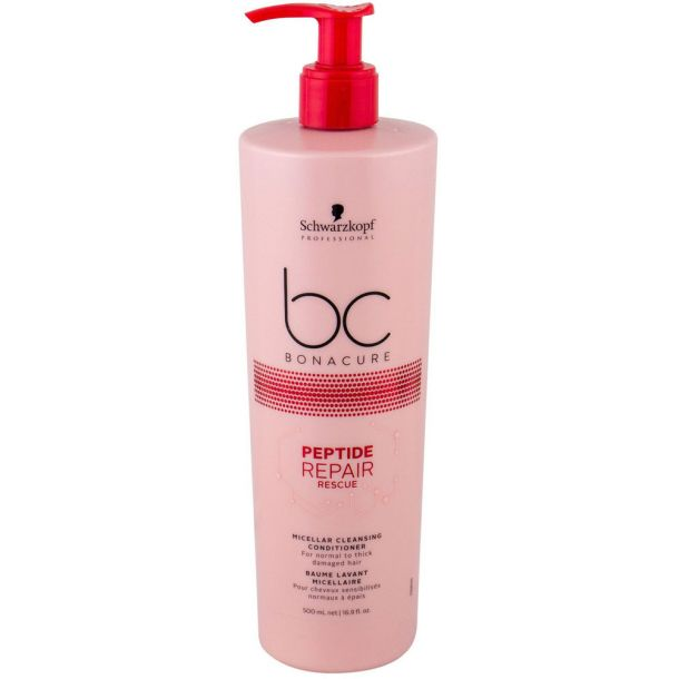 Schwarzkopf BC Bonacure Peptide Repair Rescue Micellar Conditioner 500ml (Fine Hair - Normal Hair - Weak Hair - Dry Hair)