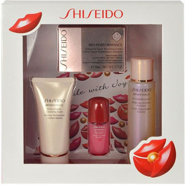Shiseido Bio-Performance Advanced Super Restoring Day Cream 50ml Combo: 50ml BIO-PERFORMANCE Restoring Cream + 50ml BENEFIANCE Cleansing Foam + 75ml BENEFIANCE Softener Enriched + 10ml ULTIMUNE Power Inf.Concentrate (For All Ages)