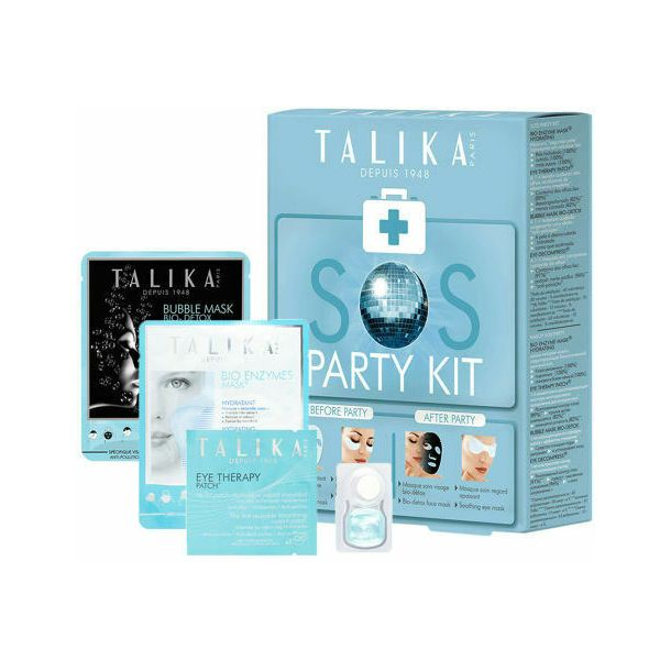 Talika Bio Enzymes Mask Face Mask 20gr Combo: Bio Enzyme Mask 20 G + Eye Therapy Patch 1 Pc + Bubble Mask 25 G + Eye Decompress 3 Ml (For All Ages)