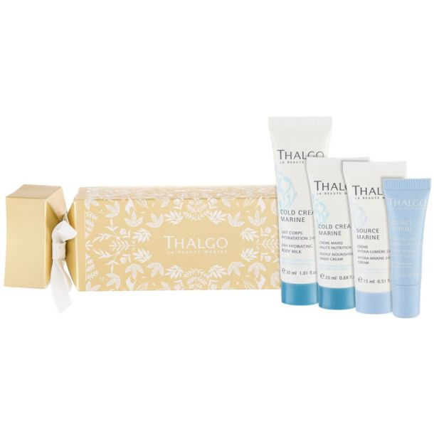 Thalgo Source Marine Day Cream 15ml Combo: Moisturizing Cream 15 Ml + Hand Cream Cold Cream Marine 20 Ml + Body Lotion Cold Cream Marine 30 Ml + Source Marine Eye Serum 10 Ml (For All Ages)