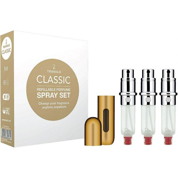 Travalo Travalo Classic HD Refillable Gold 3x5ml